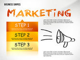 Presentation Templates: Marketing Steps Strategy Presentation Template #02625