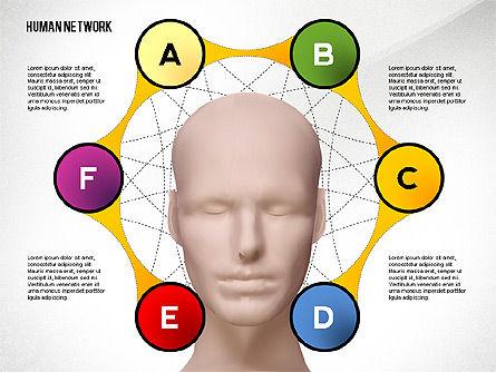 Human Network Concept, Slide 2, 02627, Organizational Charts — PoweredTemplate.com