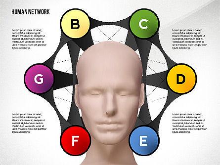 Human Network Concept, Slide 3, 02627, Organizational Charts — PoweredTemplate.com