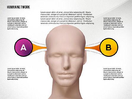 Human Network Concept, Slide 4, 02627, Organizational Charts — PoweredTemplate.com