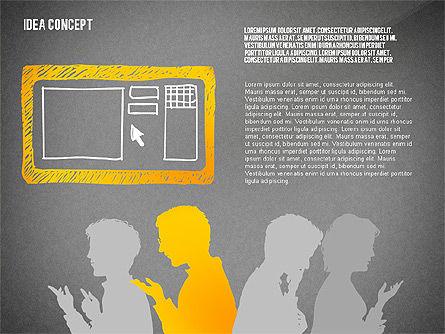 Generating Idea Presentation Concept, Slide 13, 02628, Presentation Templates — PoweredTemplate.com