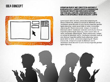 Generating Idea Presentation Concept, Slide 5, 02628, Presentation Templates — PoweredTemplate.com
