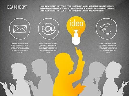 Generating Idea Presentation Concept, Slide 9, 02628, Presentation Templates — PoweredTemplate.com