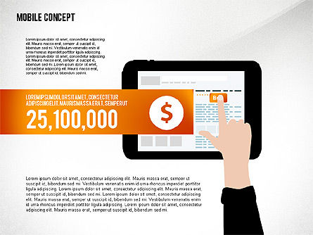 Mobile Services Presentation Concept, 02629, Presentation Templates — PoweredTemplate.com
