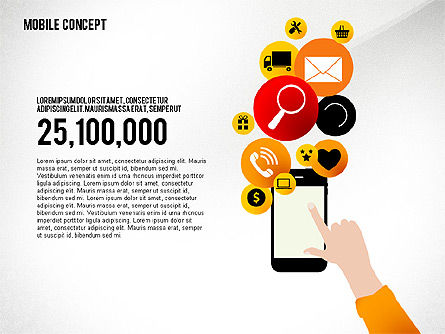 Mobile Services Presentation Concept, Slide 3, 02629, Presentation Templates — PoweredTemplate.com
