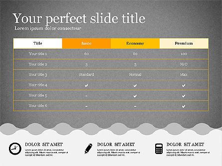 Presentation Template in Flat Design, Slide 14, 02630, Presentation Templates — PoweredTemplate.com