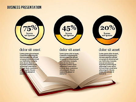 Book Presentation Template, Slide 4, 02634, Education Charts and Diagrams — PoweredTemplate.com
