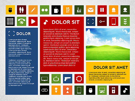Colorful Flat Style Presentation with Icons Slide 2