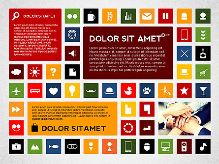 Colorful Flat Style Presentation with Icons Slide 3