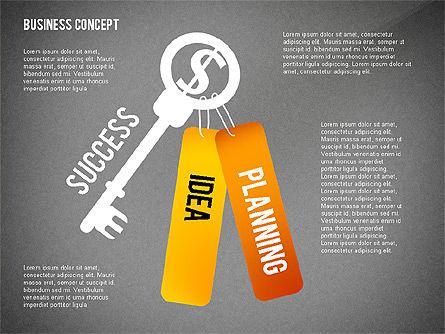 Key to Success Presentation Concept, Slide 10, 02636, Shapes — PoweredTemplate.com
