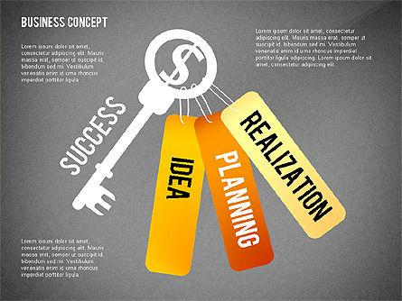 Key to Success Presentation Concept, Slide 11, 02636, Shapes — PoweredTemplate.com