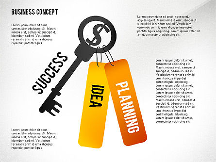 Key to Success Presentation Concept, Slide 2, 02636, Shapes — PoweredTemplate.com