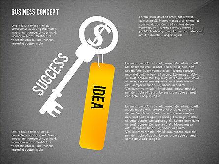 Key to Success Presentation Concept, Slide 9, 02636, Shapes — PoweredTemplate.com