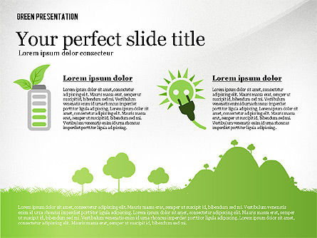Green Presentation Template, Slide 2, 02640, Presentation Templates — PoweredTemplate.com