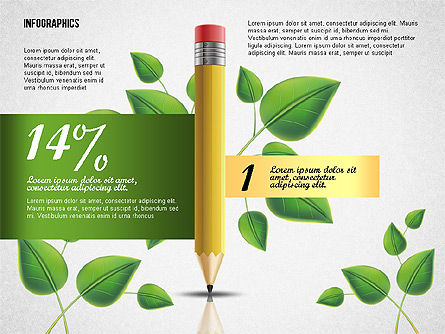 Options with Pencil and Green Leaves, 02641, Stage Diagrams — PoweredTemplate.com
