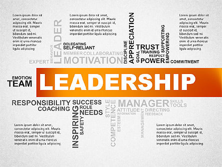 Presentation Templates: Leadership Word Cloud Presentation Template #02643