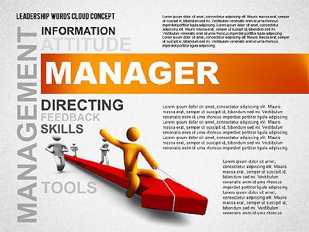 Leadership Word Cloud Presentation Template, Slide 2, 02643, Presentation Templates — PoweredTemplate.com