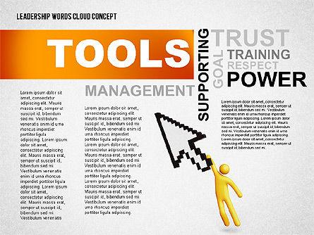Leadership Word Cloud Presentation Template, Slide 3, 02643, Presentation Templates — PoweredTemplate.com