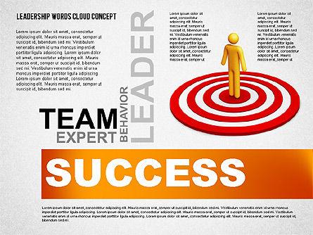 Leadership Word Cloud Presentation Template, Slide 4, 02643, Presentation Templates — PoweredTemplate.com
