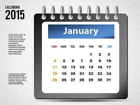 2015 Calendar, 02645, Timelines & Calendars — PoweredTemplate.com