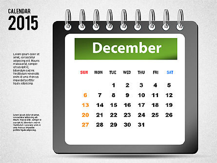 2015 Calendar, Slide 12, 02645, Timelines & Calendars — PoweredTemplate.com