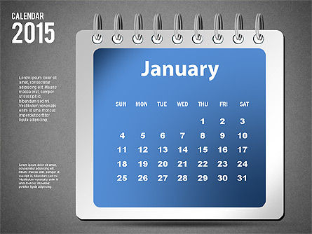 2015 Calendar, Slide 13, 02645, Timelines & Calendars — PoweredTemplate.com