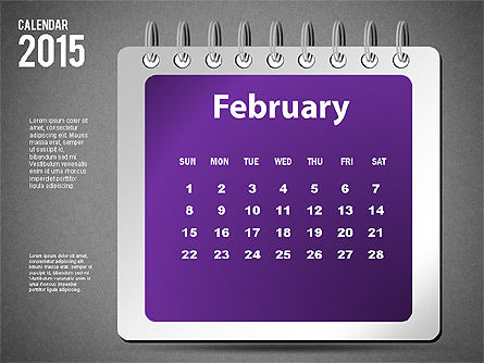 2015 Calendar, Slide 14, 02645, Timelines & Calendars — PoweredTemplate.com