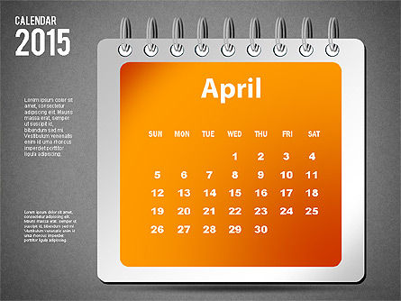 2015 Calendar, Slide 16, 02645, Timelines & Calendars — PoweredTemplate.com