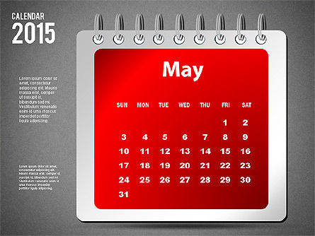 2015 Calendar, Slide 17, 02645, Timelines & Calendars — PoweredTemplate.com