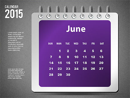 2015 Calendar, Slide 18, 02645, Timelines & Calendars — PoweredTemplate.com