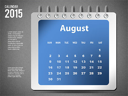 2015 Calendar, Slide 20, 02645, Timelines & Calendars — PoweredTemplate.com