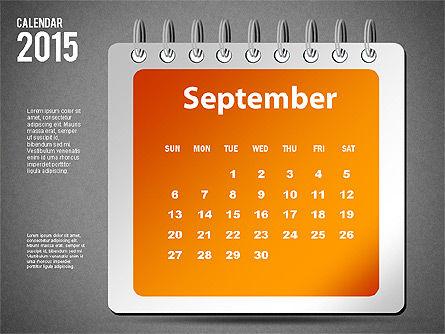 2015 Calendar, Slide 21, 02645, Timelines & Calendars — PoweredTemplate.com