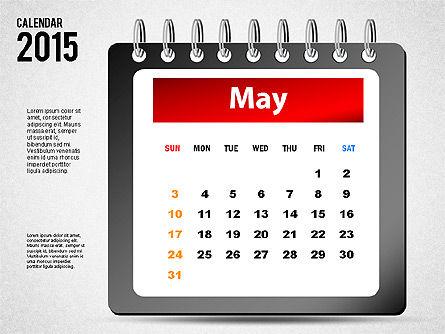2015 Calendar, Slide 5, 02645, Timelines & Calendars — PoweredTemplate.com