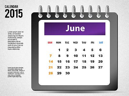 2015 Calendar, Slide 6, 02645, Timelines & Calendars — PoweredTemplate.com