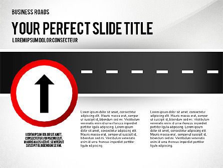 Road Junctions and Signs, Slide 3, 02647, Shapes — PoweredTemplate.com