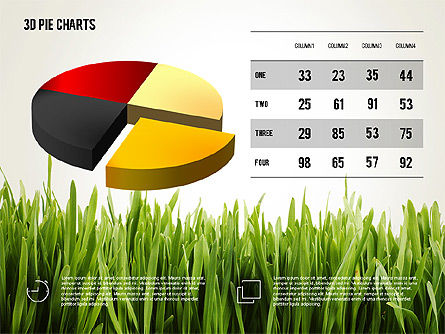Presentation with Pie Chart and Table (data driven), 02648, Data Driven Diagrams and Charts — PoweredTemplate.com
