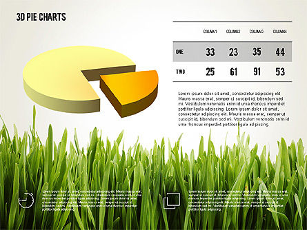Presentation with Pie Chart and Table (data driven), Slide 2, 02648, Data Driven Diagrams and Charts — PoweredTemplate.com