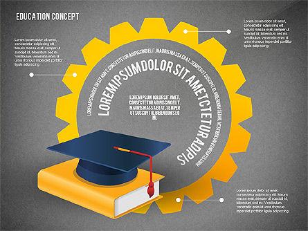 Education Presentation Toolbox, Slide 15, 02652, Education Charts and Diagrams — PoweredTemplate.com