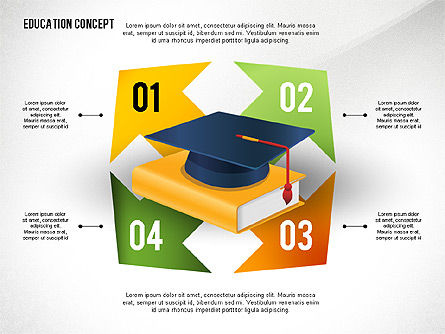 Education Presentation Toolbox, Slide 8, 02652, Education Charts and Diagrams — PoweredTemplate.com