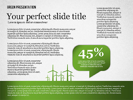 Green Presentation, 02653, Presentation Templates — PoweredTemplate.com