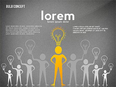 Presentation with Bulb, Slide 10, 02654, Presentation Templates — PoweredTemplate.com