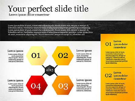 Presentation Templates: Presentation Template with Geometric Charts #02656