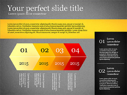 Presentation Template with Geometric Charts, Slide 10, 02656, Presentation Templates — PoweredTemplate.com