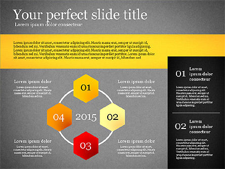 Presentation Template with Geometric Charts, Slide 11, 02656, Presentation Templates — PoweredTemplate.com