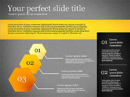 Presentation Template with Geometric Charts, Slide 12, 02656, Presentation Templates — PoweredTemplate.com