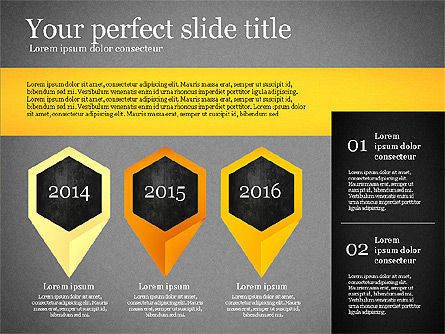 Presentation Template with Geometric Charts, Slide 13, 02656, Presentation Templates — PoweredTemplate.com