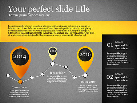 Presentation Template with Geometric Charts, Slide 14, 02656, Presentation Templates — PoweredTemplate.com