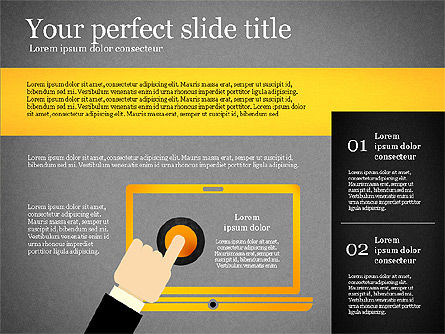 Presentation Template with Geometric Charts, Slide 15, 02656, Presentation Templates — PoweredTemplate.com