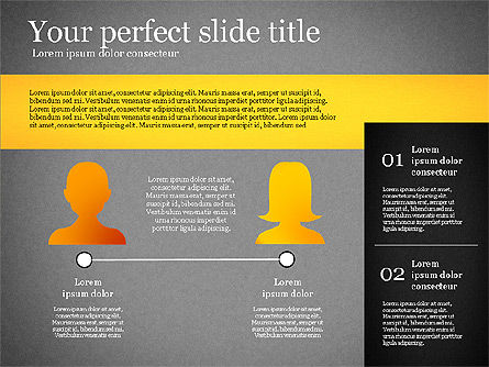 Presentation Template with Geometric Charts, Slide 16, 02656, Presentation Templates — PoweredTemplate.com