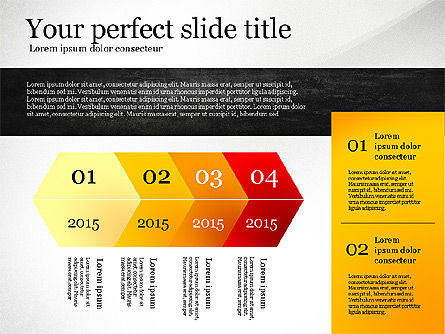 Presentation Template with Geometric Charts, Slide 2, 02656, Presentation Templates — PoweredTemplate.com
